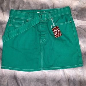 Kelly Green Mini Skirt